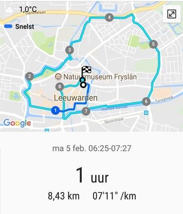 Uur hardlopen door Leeuwarden tijdens Hell Week