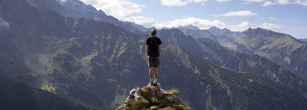 Eindeloze mogelijkheden boven op de berg