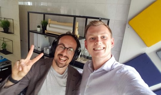 podcast cover: Friso <strong>Visser</strong> van Brain Fuel over creativiteit
