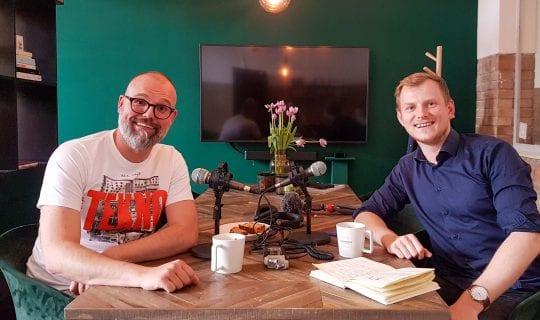 podcast cover: Maurice <strong>van der Werf</strong> over Passie en Creativiteit