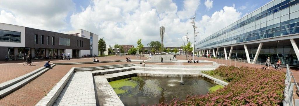 Campus NHL Stenden plein in Leeuwarden